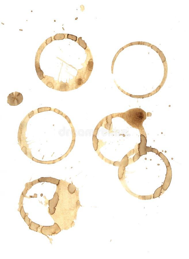 环形咖啡糕泼溅物 免版税图库摄影