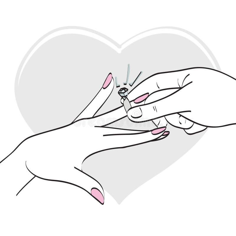 环形婚礼 向量例证