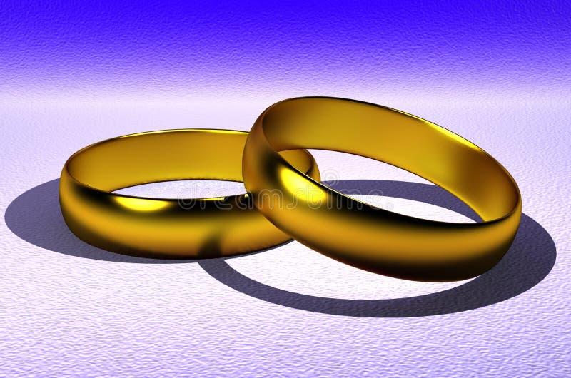 环形婚礼 免版税库存图片