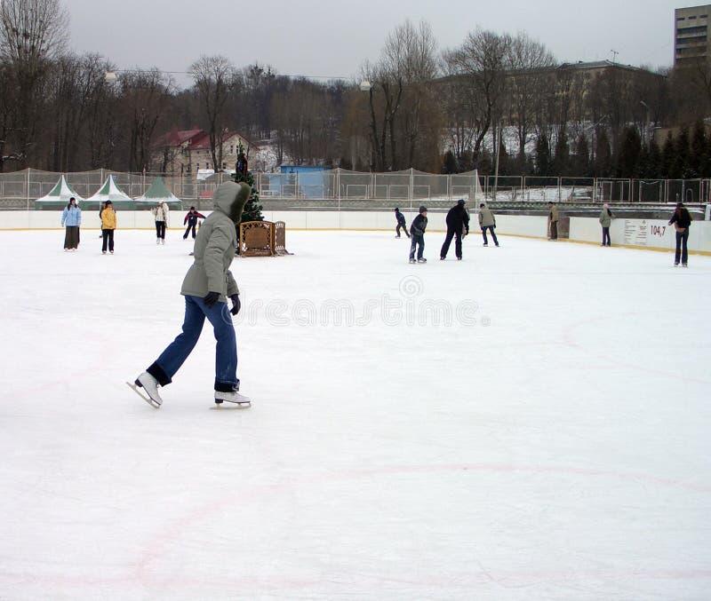 环形滑冰 库存图片