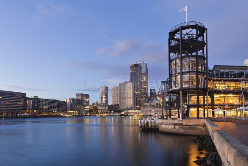 环形码头和国外客运枢纽站,悉尼 库存照片