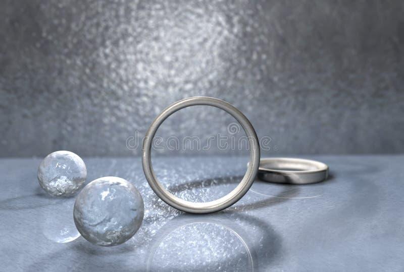 环形银 向量例证