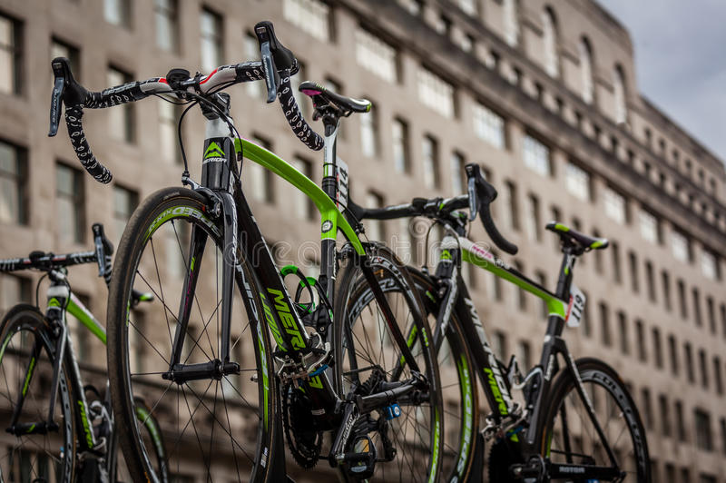 环法自行车赛自行车 免版税图库摄影