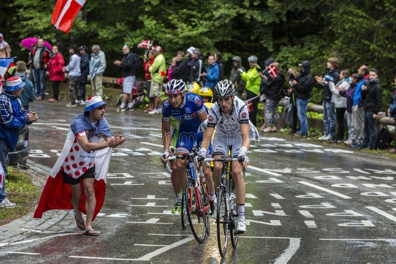 环法自行车赛行动 免版税图库摄影