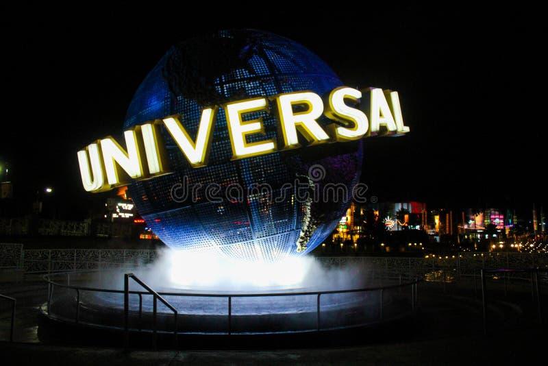 环球影业地球,奥兰多, FL 免版税库存图片