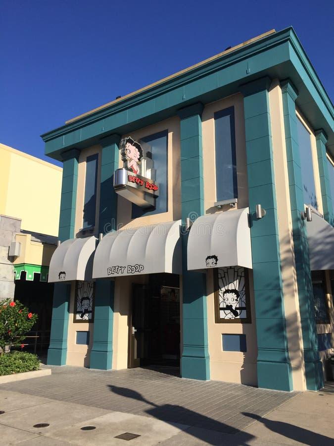 环球影业的贝蒂・布普商店在奥兰多,佛罗里达 免版税库存照片