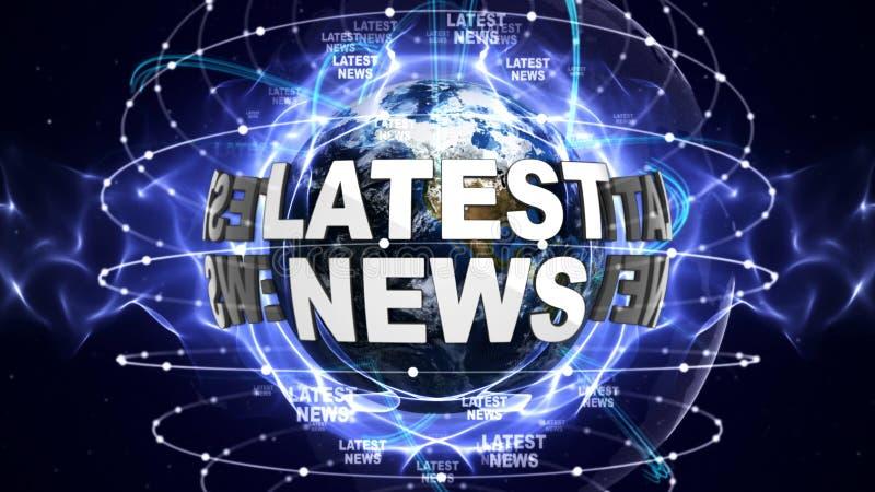 环球最新的新闻文本,计算机图表 皇族释放例证