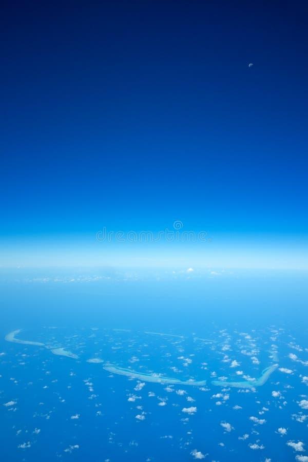 环礁在马尔代夫海岛 免版税库存图片