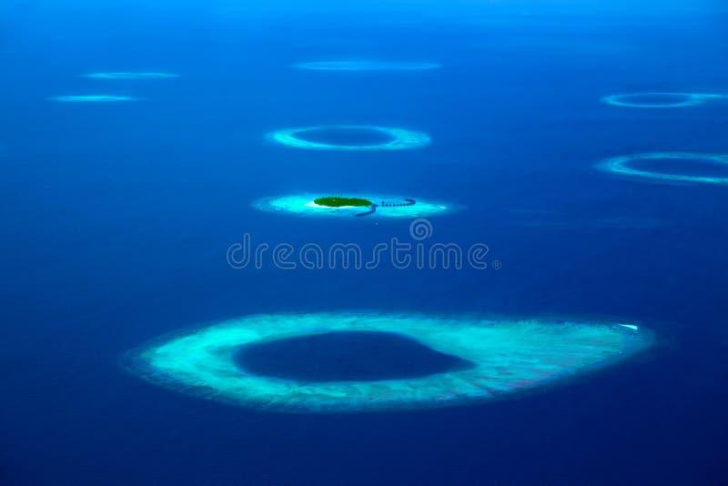 环礁在马尔代夫 库存照片