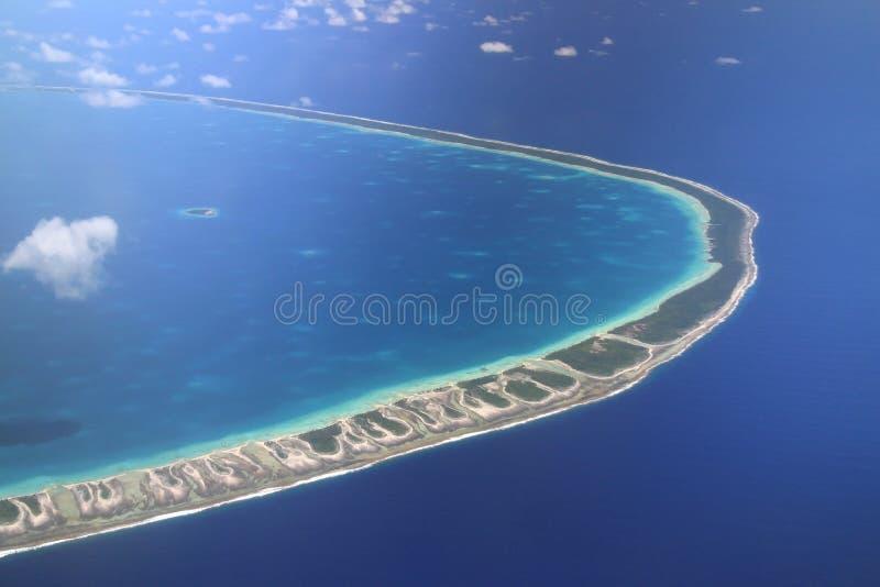 环礁太平洋rangiroa 库存图片