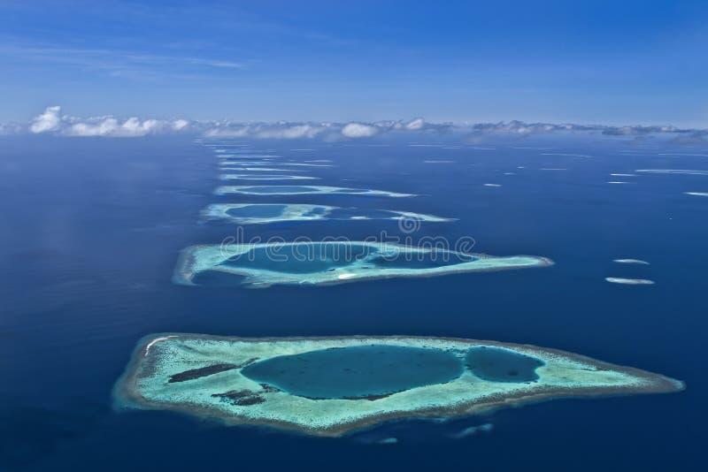 环礁马尔代夫 库存图片
