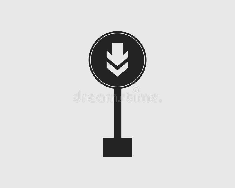 环绕一个方式路牌象 向量例证