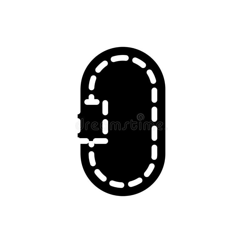 环行路黑色象概念 环行路平的传染媒介标志,标志,例证 库存例证