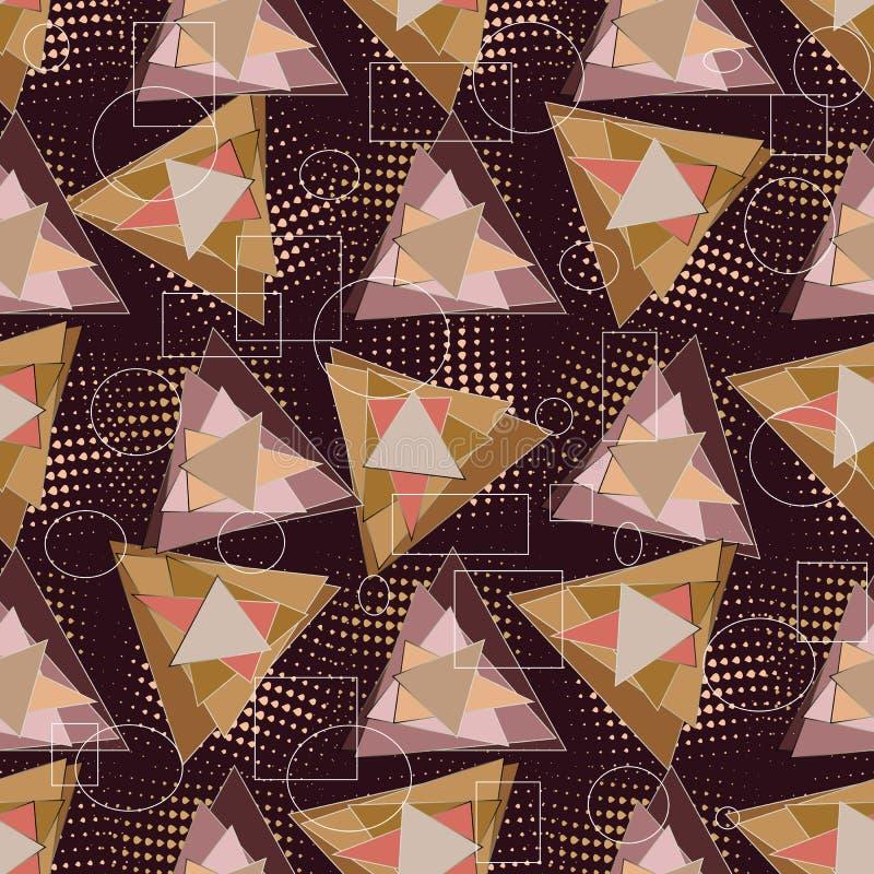 现代三角几何传染媒介无缝的样式 抽象轻拍 皇族释放例证