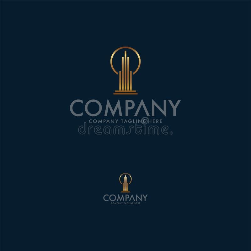 现代不动产创造性的企业商标设计模板 r 皇族释放例证
