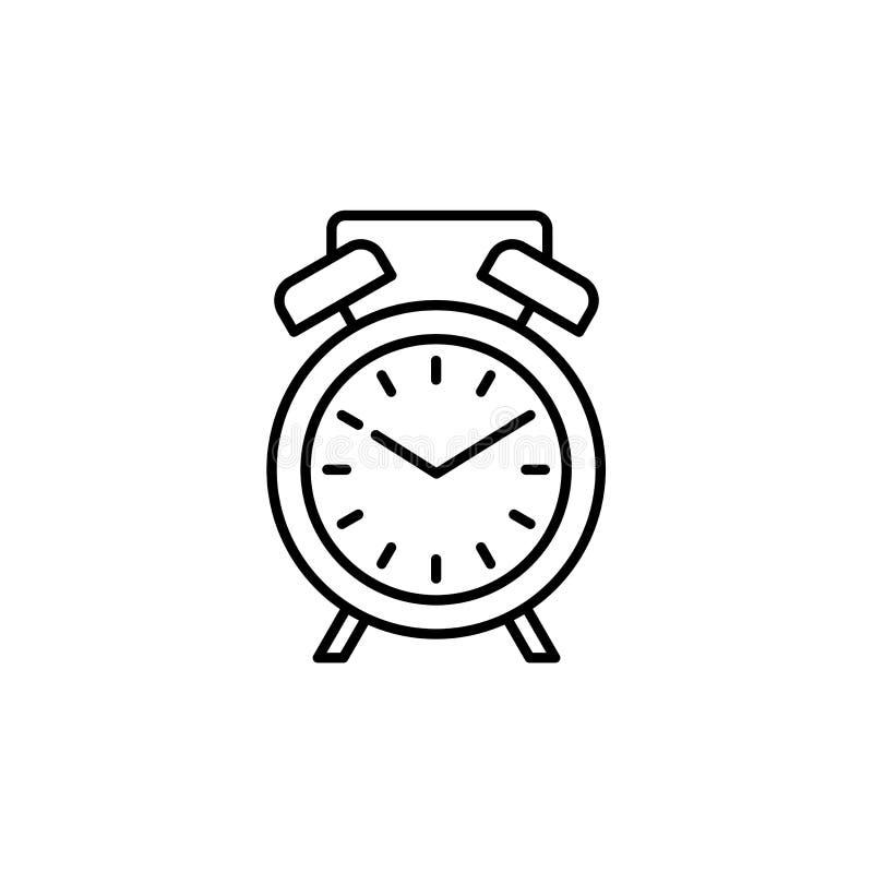现代书桌闹钟的传染媒介例证 线选项象  皇族释放例证