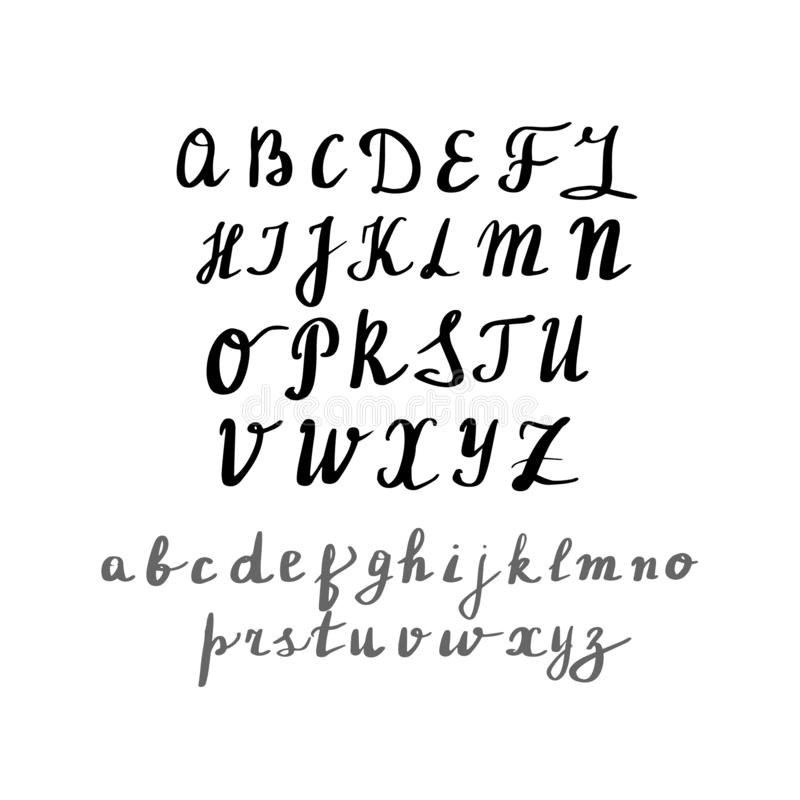 现代书法,手写的信件 英语 皇族释放例证
