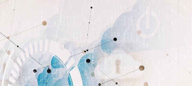 现代云彩技术 联合数字式网概念 库存例证