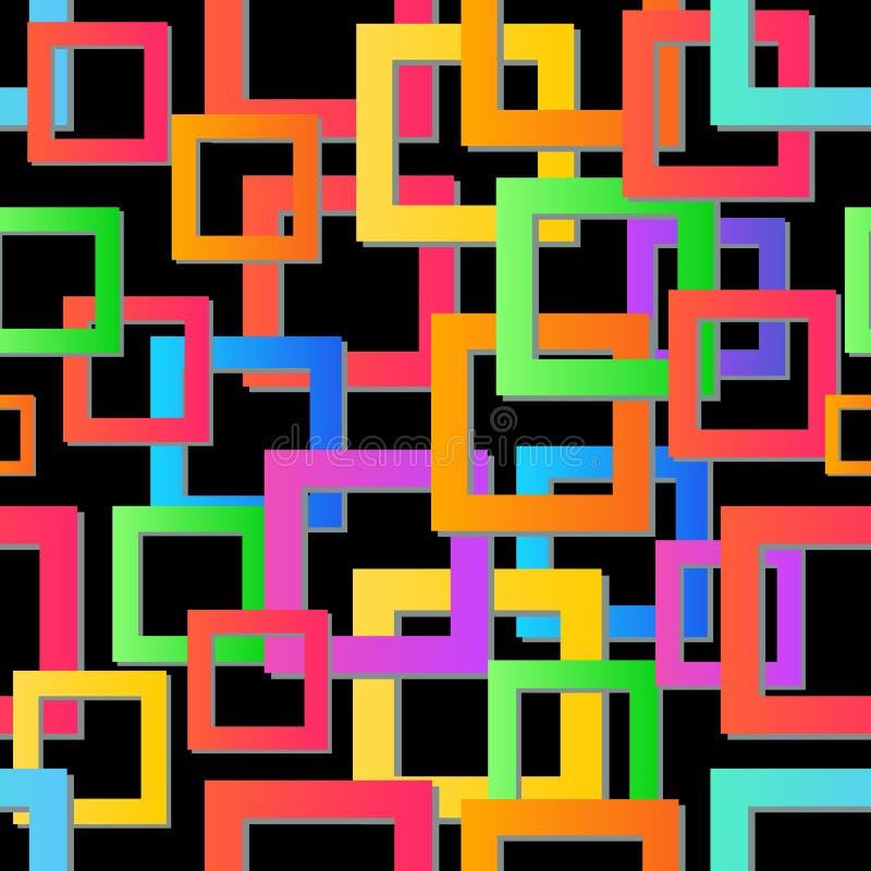 现代五颜六色的马赛克背景 无缝的纹理向量 抽象几何模式 现代五颜六色的马赛克 向量例证