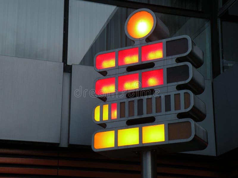 现代交通信号 免版税库存图片