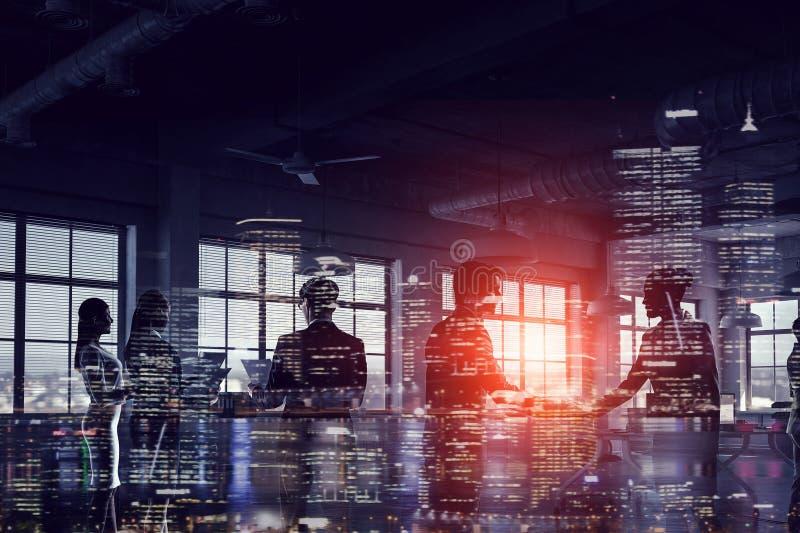 现代企业生活方式 混合画法 图库摄影