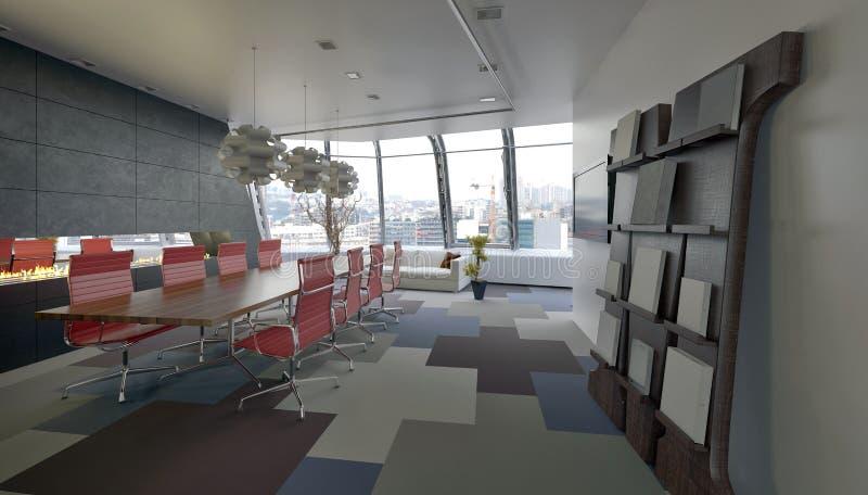 现代会议室在公司办公室 皇族释放例证