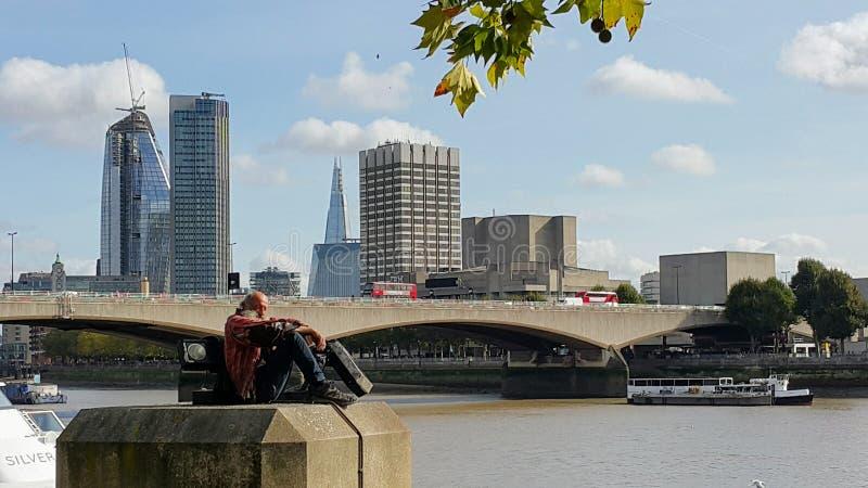 现代伦敦无家可归者 免版税图库摄影