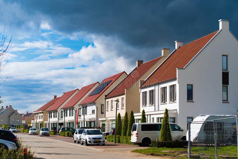 现代住宅房子在荷兰 库存图片