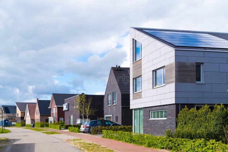 现代住宅房子在荷兰 库存照片