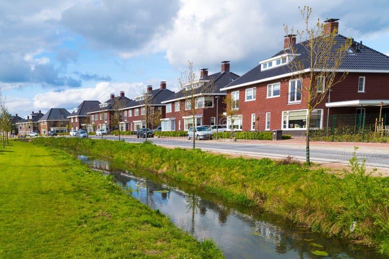 现代住宅房子在荷兰 免版税图库摄影
