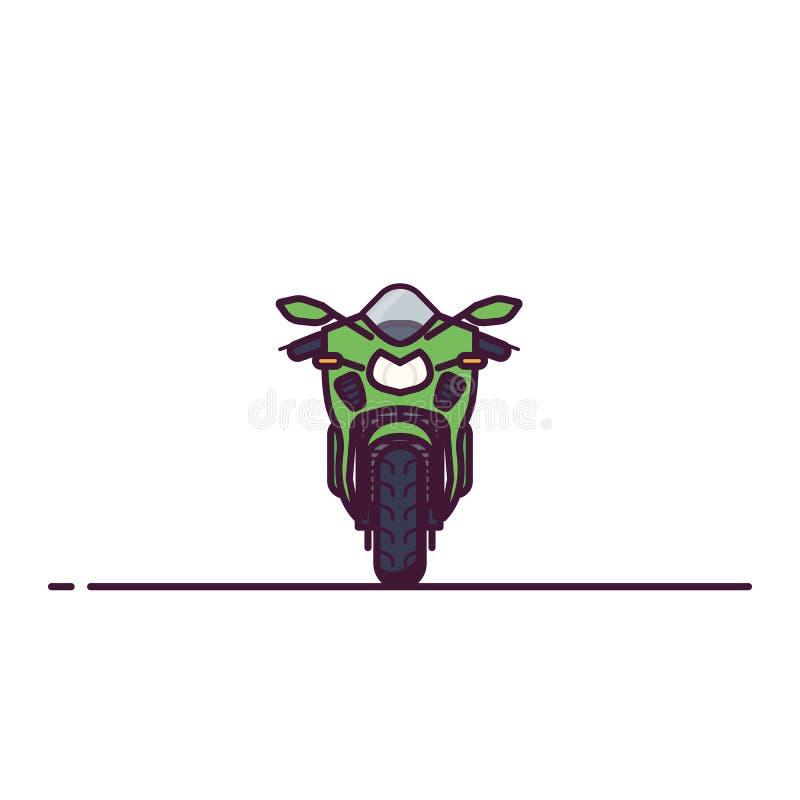 现代体育自行车线型 库存例证