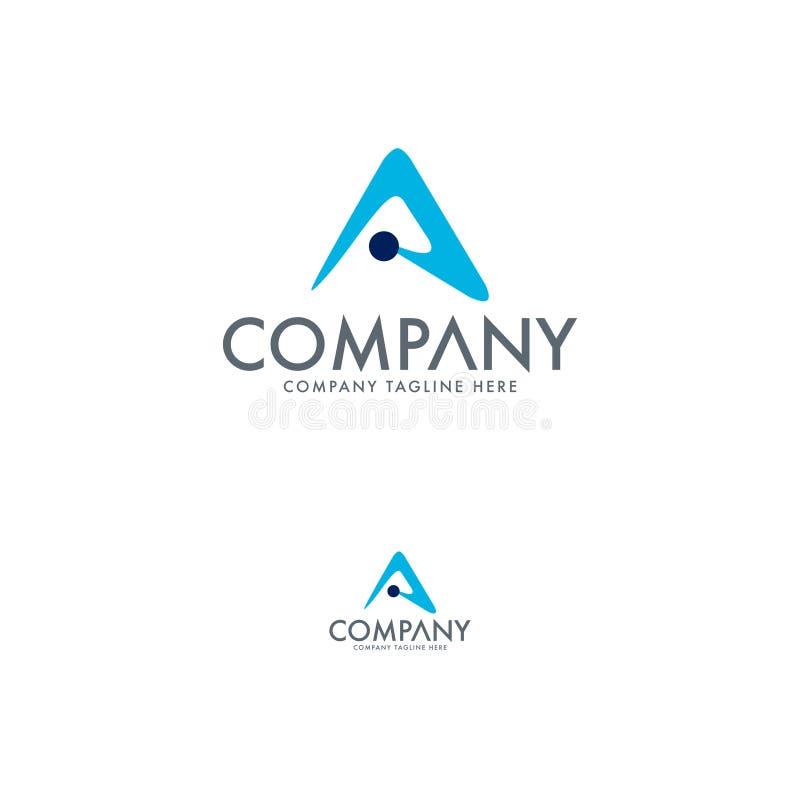 现代信件A商标 精华和现代商标 在商标设计传染媒介上写字 库存例证