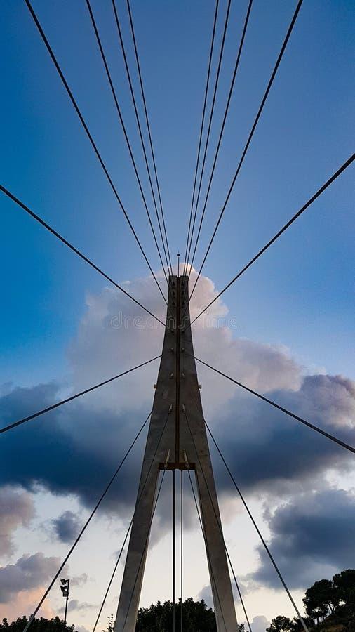 现代修造的桥梁 库存图片
