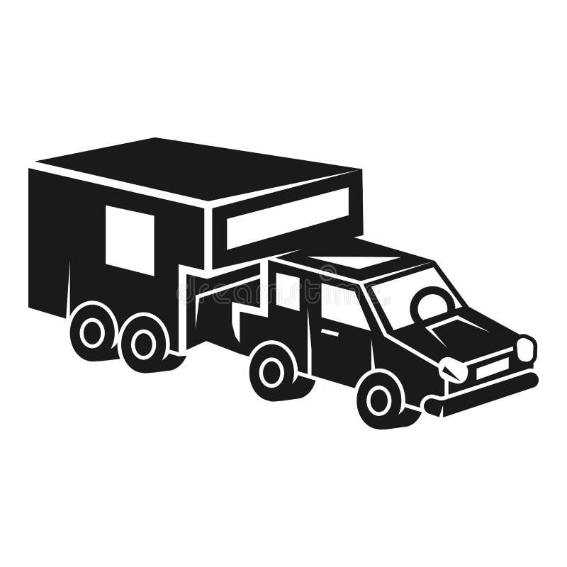 现代假期汽车象,简单的样式 库存例证