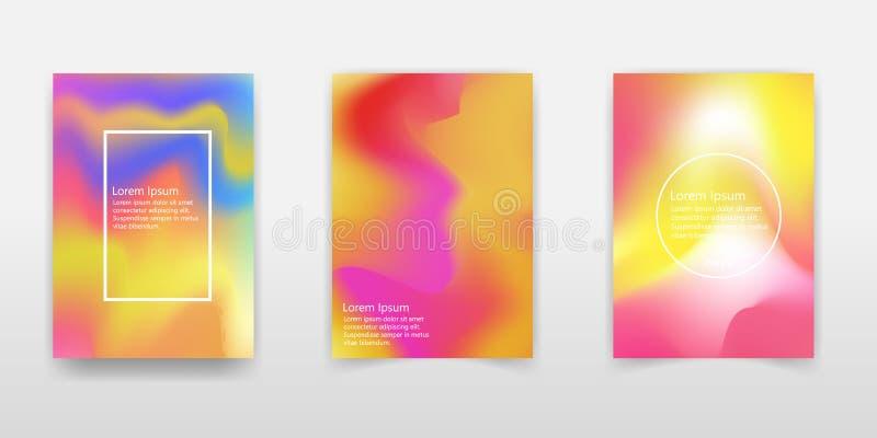 现代全息照相的箔背景 液体颜色背景设计 可变的梯度塑造构成 未来派设计海报 向量例证