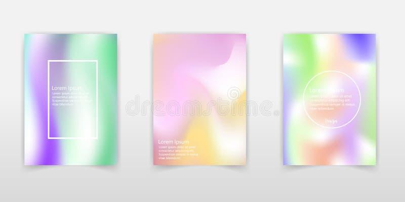 现代全息照相的箔背景 非常美好的彩虹纹理 美妙的不可思议的背景 幻想五颜六色的卡片 呈虹彩 库存例证