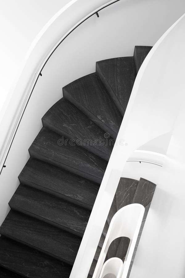 现代公寓楼梯 免版税库存图片