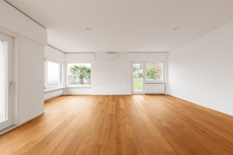 现代公寓,客厅内部  免版税图库摄影