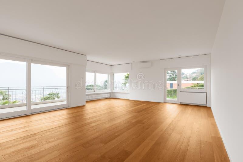 现代公寓,客厅内部  库存图片