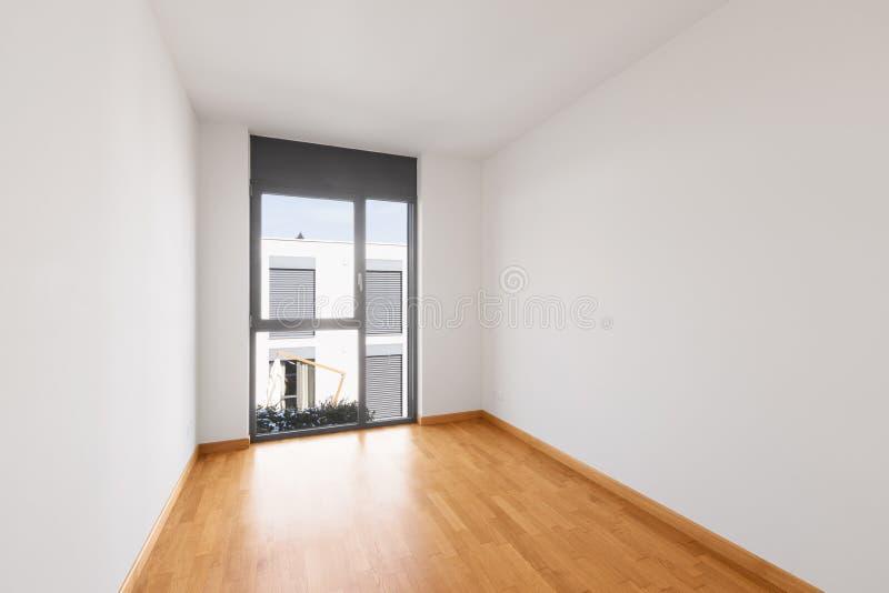 现代公寓,空的室内部  图库摄影