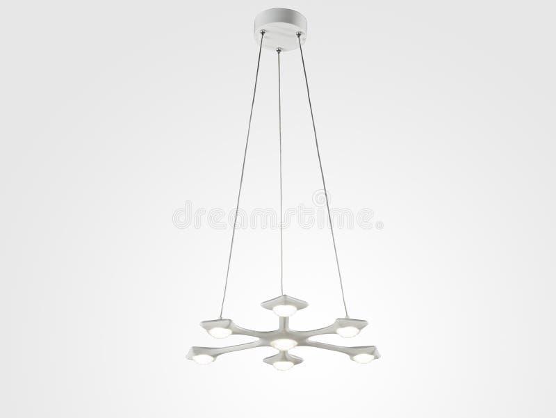 现代典雅的吊灯 库存例证