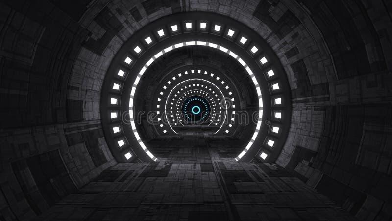 现代内部科学幻想小说建筑学 库存例证