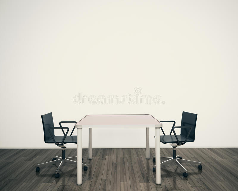 现代内部表和椅子 免版税库存图片