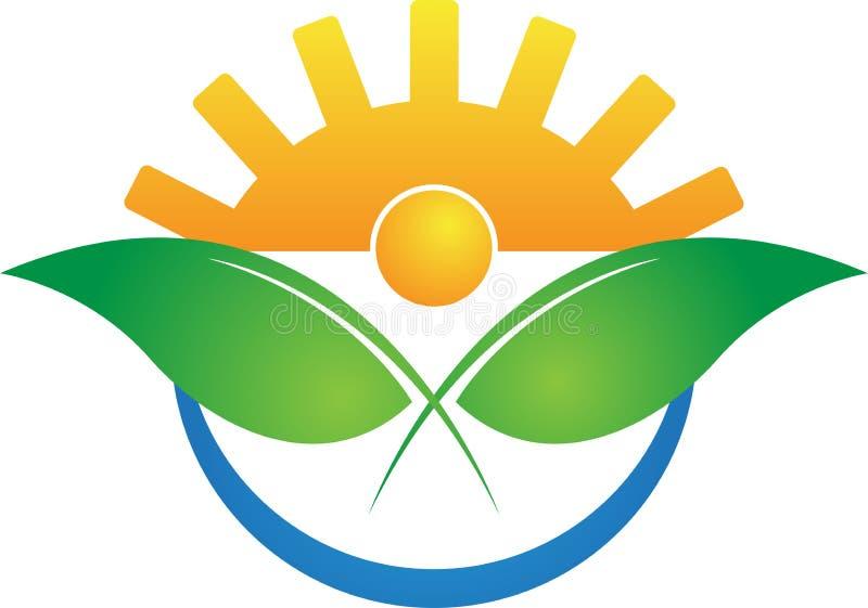 现代农业徽标 皇族释放例证