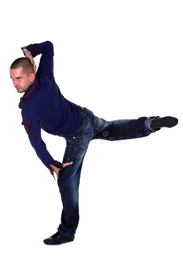 现代冷静舞蹈演员的人 免版税库存照片