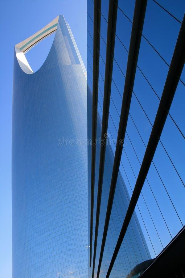 现代利雅得摩天大楼 免版税库存照片
