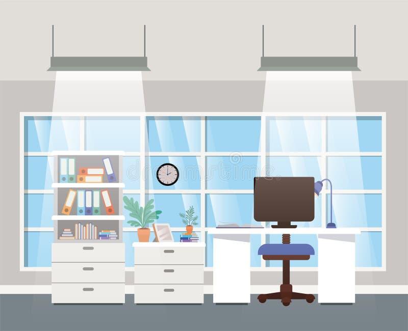 现代办公室上司场面 库存例证
