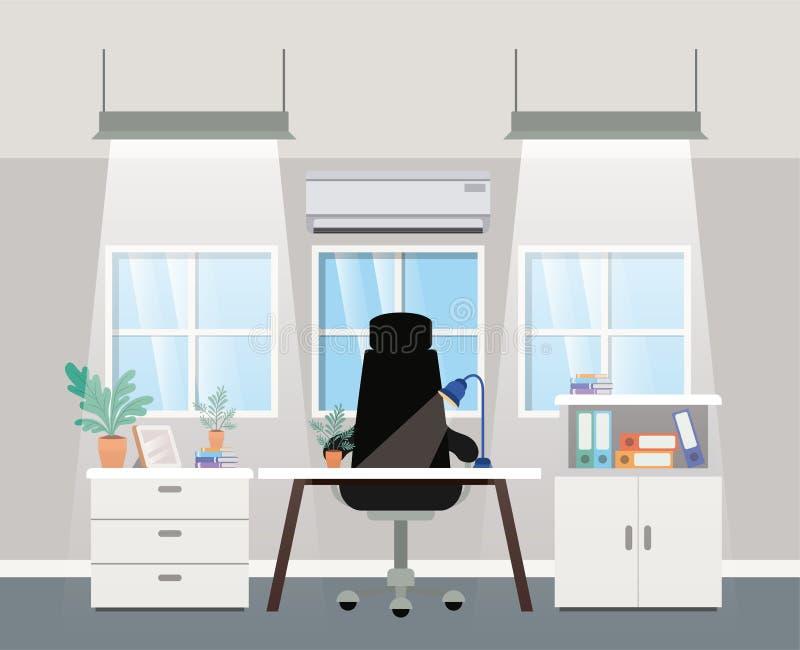 现代办公室上司场面 皇族释放例证