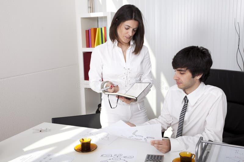 现代办公室小组 免版税库存照片