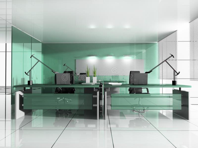 现代办公室工作场所 向量例证